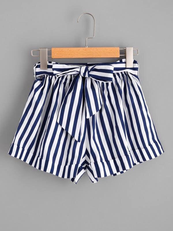 Stripe Bow Shorts