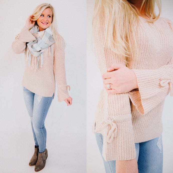 Bow-Tie Sleeve Sweater