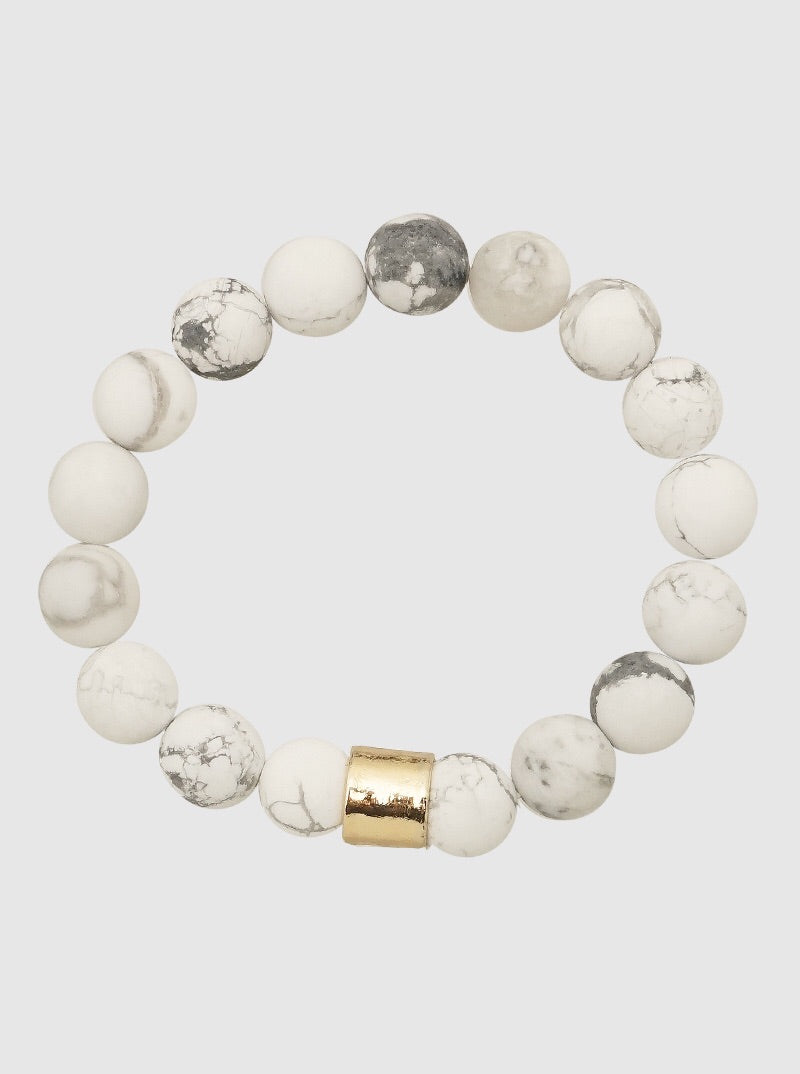 Marble and Gold Bracelet