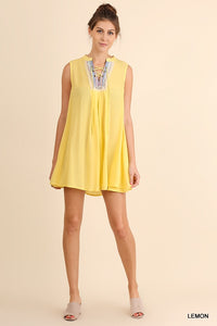 Lemon Criss-Cross Dress