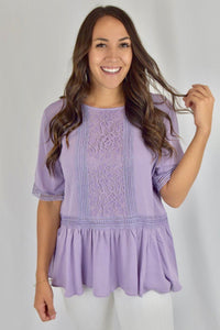 Lilac Lace Blouse