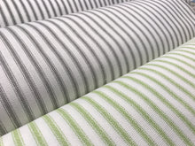 rolls and bolts of classic ticking stripe fabric by premier prints
