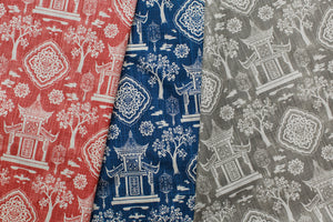 photo of modern chinese inspired modern fabric