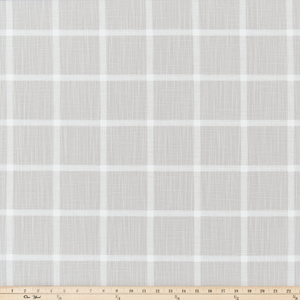 Abbot French Grey Slub Canvas Fabric By Premier Prints