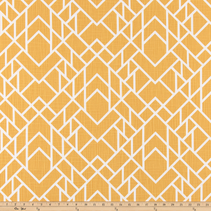 Alpine Brazilian Yellow Slub Canvas Fabric By Premier Prints