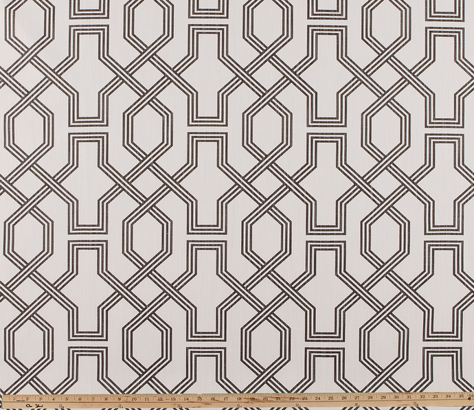 picture of modern lattice printed pattern on property brothers fabric