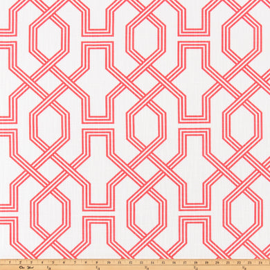 Ander Sunset Coral Luxe Canvas Fabric By Scott Living