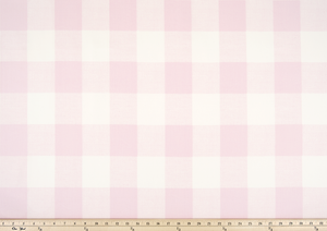 picture of pink buffalo check fabric