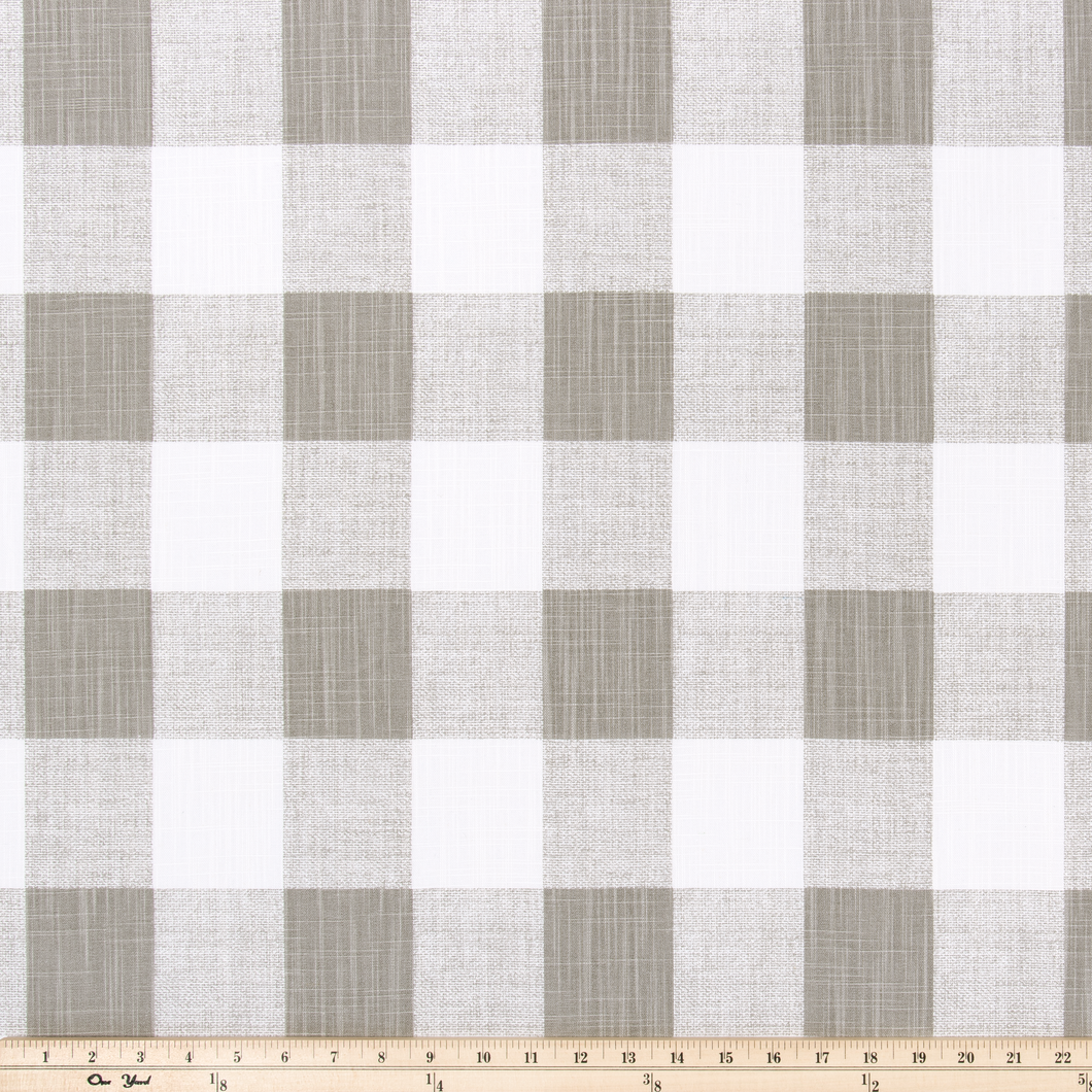 Picture of Beige Buffalo Plaid Check Fabric