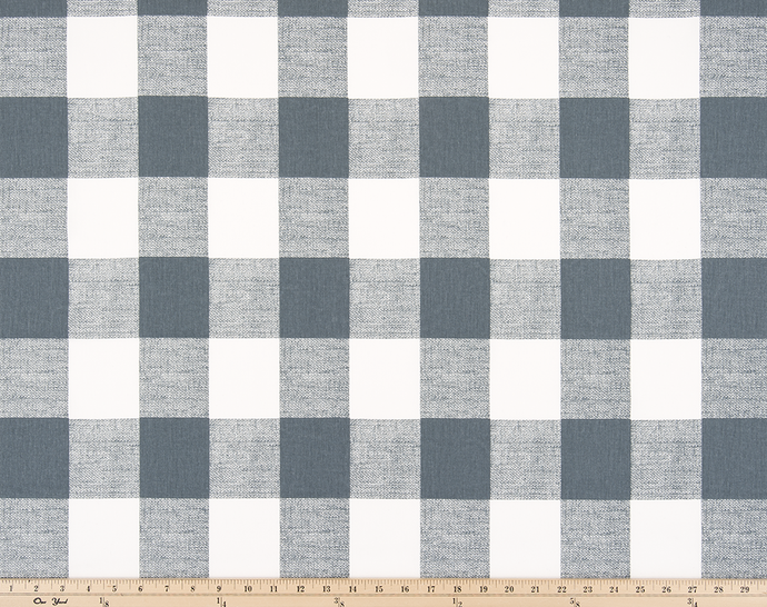 Picture of Dark Grey Buffalo Plaid Check Fabric