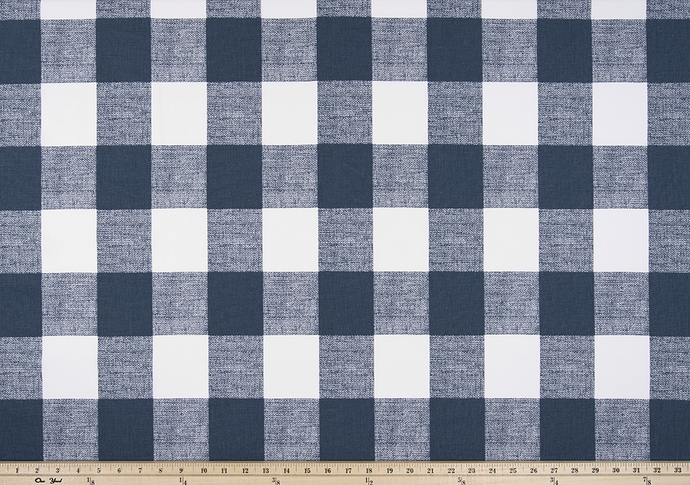 Picture of Dark Navy Blue Buffalo Plaid Check Fabric