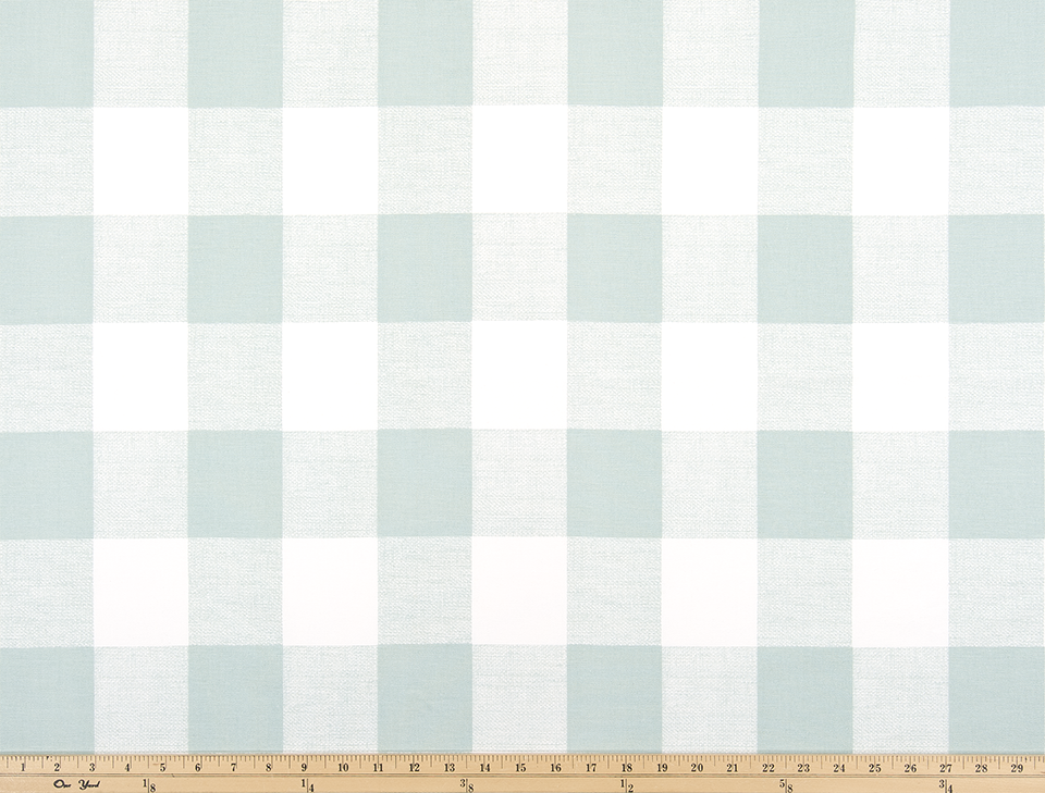 Picture of Mint Green Buffalo Plaid Check Fabric