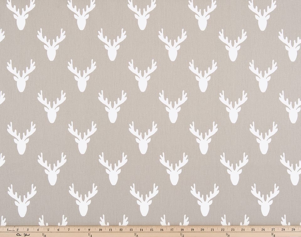 tan or brown deer head antler fabric