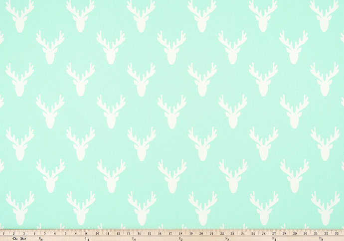 mint colored deer antler fabrics
