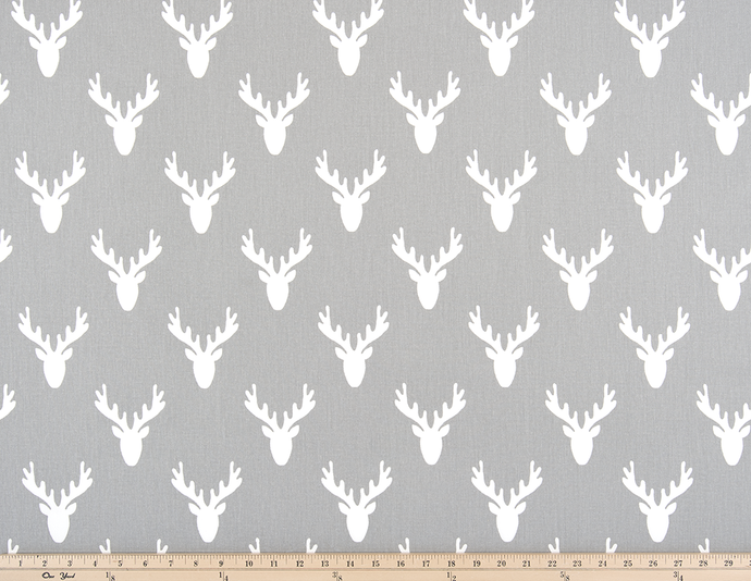 grey deer antler fabric