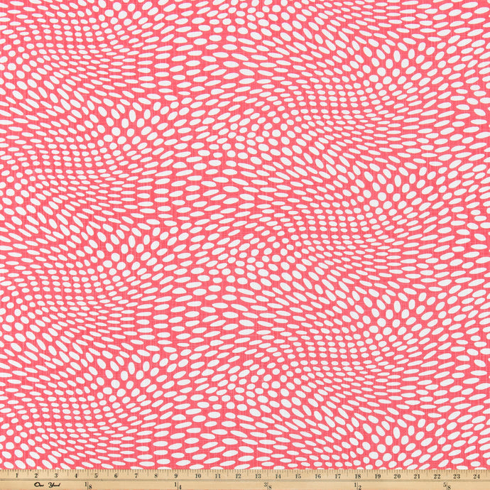Arnava Sunset Coral Luxe Canvas Fabric By Scott Living