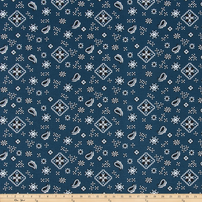 Bandana Italian Denim Fabric By Premier Prints
