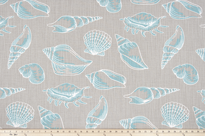 Beach Treasure Fountain Slub Canvas Fabric By Premier Prints