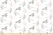 Bird Toile Blush Slub Canvas