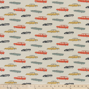 retro cars fabric by premier prints