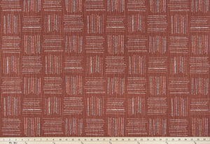 Photo of brown fabric with a square geometric pattern