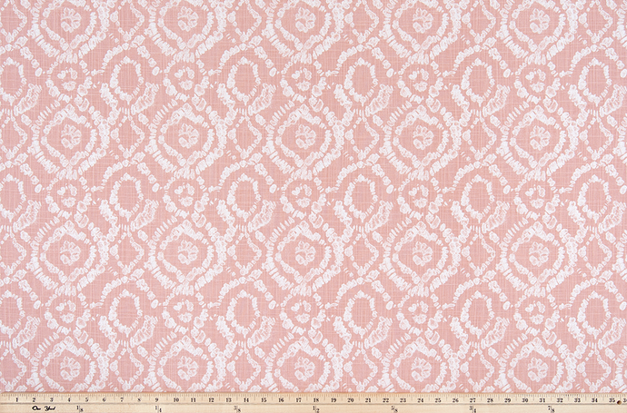 product photo of linked circle pattern printed on slub canvas cotton