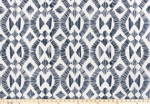 photo of native indian inspired repeating diamond pattern fabric