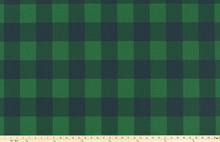 Buffalo Check Mountain Green/Deep Navy Fabric By Premier Prints