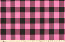 Buffalo Check Polish Pink/Black Fabric By Premier Prints