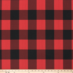 Buffalo Check Red/Black Fabric By Premier Prints