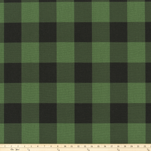 Buffalo Check Valley Green/Black Fabric By Premier Prints