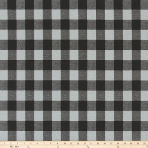 Buffalo Plaid Ash/Black Fabric By Premier Prints