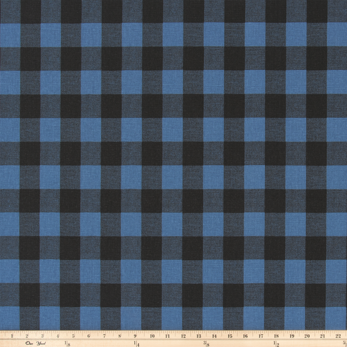 product image of classic farm and cabin plaid printed on cotton fabric