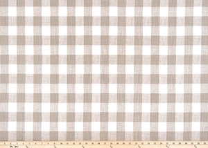 Tan Buffalo Plaid Check Fabric