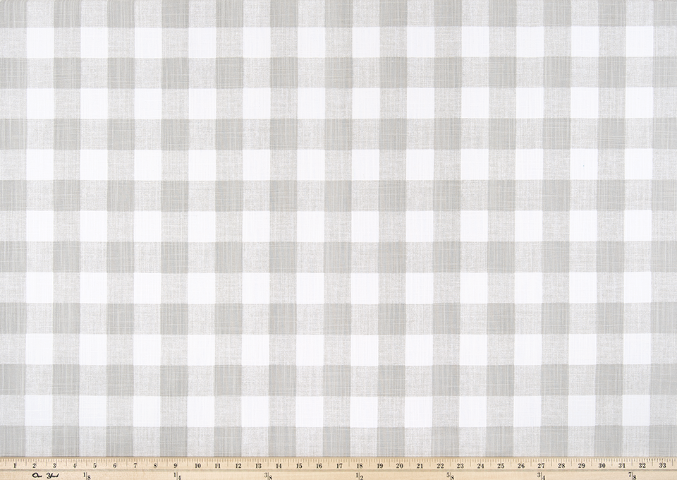 Light Grey Buffalo Plaid Check Fabric