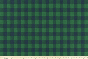 Buffalo Plaid Mountain Green/Deep Navy Fabric By Premier Prints