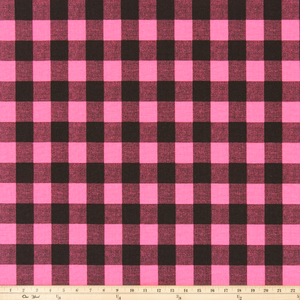 Buffalo Plaid Polish Pink/Black Fabric By Premier Prints
