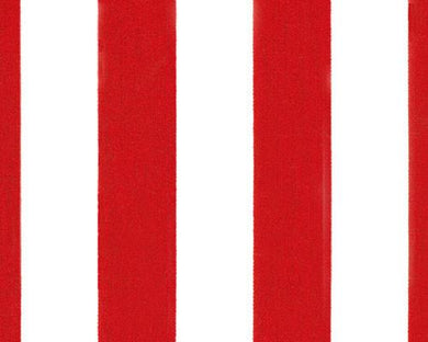 Picture of Striped Canopy Red Fabric