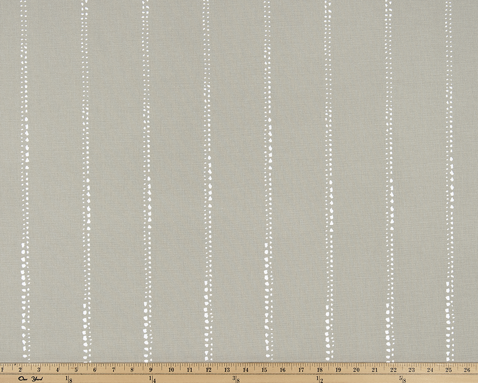Product image of striped pattern on printed fabric.