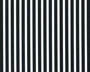 Photo of small black stripes printed on white fabric