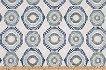 product image with hexagon geometric pattern printed on macon cotton fabric
