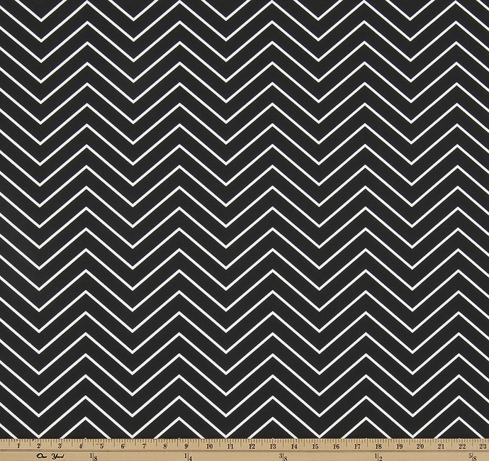 Chevron Black Fabric By Premier Prints