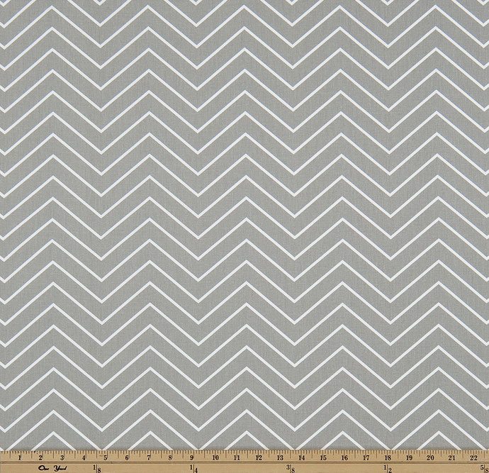 product image of fabric with a printed chevron pattern