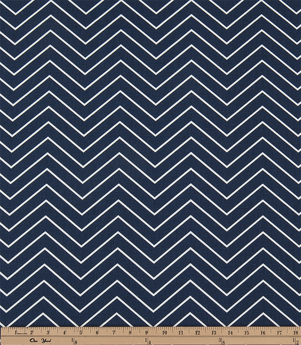 picture of Chevron Vintage Indigo Fabric