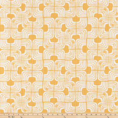 Chisel Brazilian Yellow Slub Canvas Fabric By Premier Prints