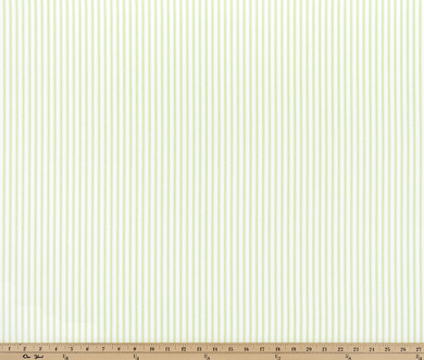 A photo of a Lime Green French Ticking Stripe Fabric