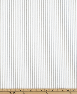 Light Grey Ticking Stripe Fabric