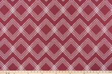 picture of red diamond pattern of modern fabric