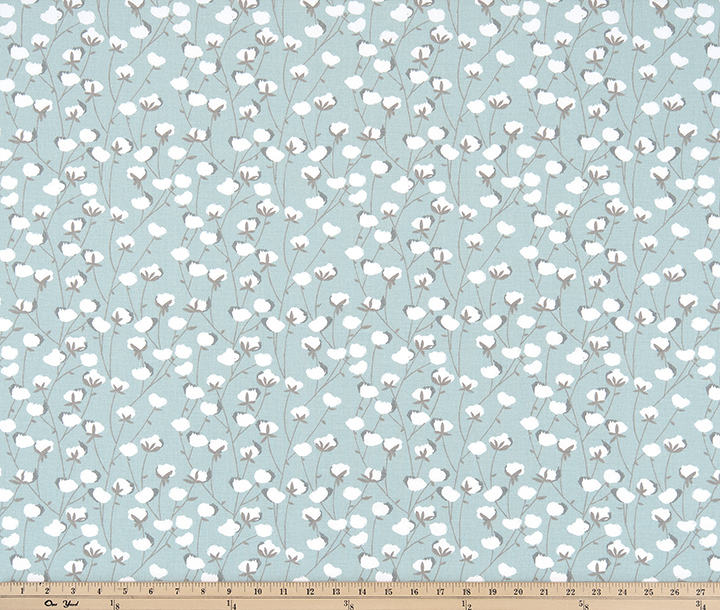 Cotton Belt Spa Blue Fabric By Premier Prints