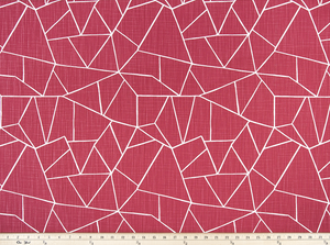 Cut Glass Raspberry Slub Canvas Fabric By Premier Prints